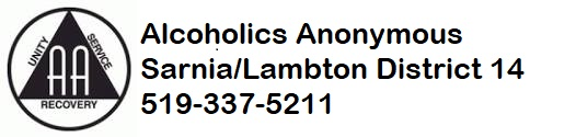 Alocholics Anonymous Sarnia/Lambton District 14